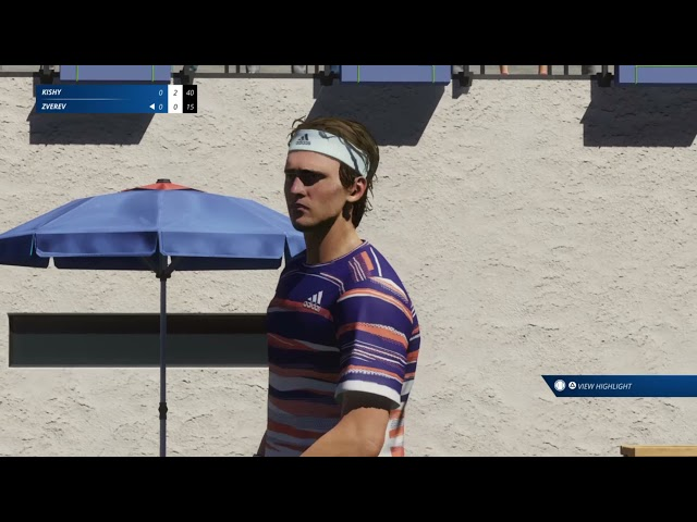 Tennis World Tour 2 (PS4/PS5/Steam/Switch/XBOXONE) Double Half Bagels against AI Very Easy/Serving