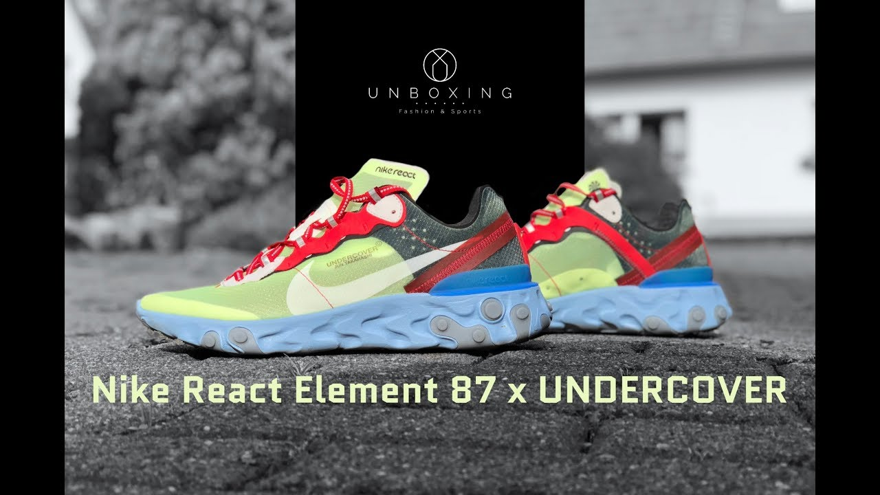 30a68ad5761f Nike React Element 87 x UNDERCOVER  volt university red-black ...