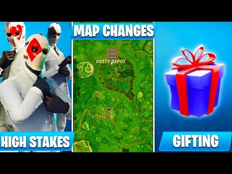 *HUGE* NEW Fortnite UPDATE 5.4 Patch Notes! (Gifting, High Stakes, Map Changes, New Skins & MORE)