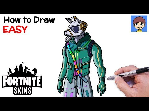How to Draw Fortnite DJ Yonder Step by Step - Fortnite Skins Drawing