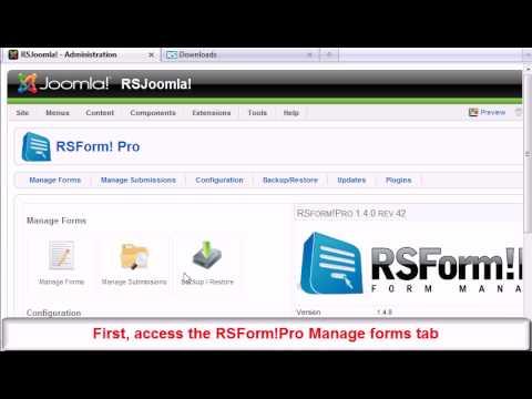 Ep. 3 : Joomla! Form Inside Article - RSForm!Pro