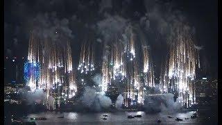 「東京花火大祭~EDOMODE~」2018 3つの発射台からの多彩でダイナミックな花火の演出