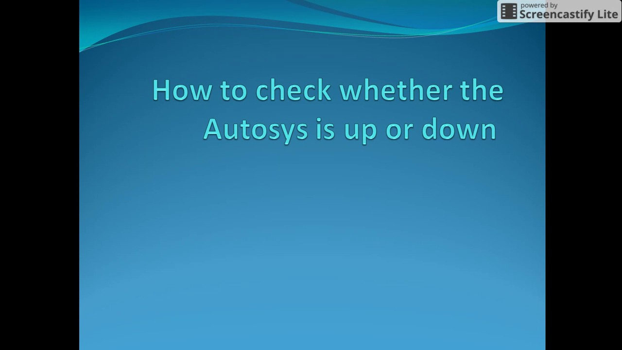 How to check whether the Autosys is up or down - Autosys Tutorial