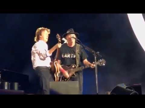 """Paul McCartney and Neil Young """"A Day In The Life/Give Peace A Chance"""" Desert Trip - October 8, 2016"""