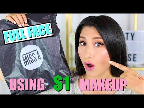 $1 Makeup That's Actually GOOD?! | First Impressions Tutorial | Shop Miss A