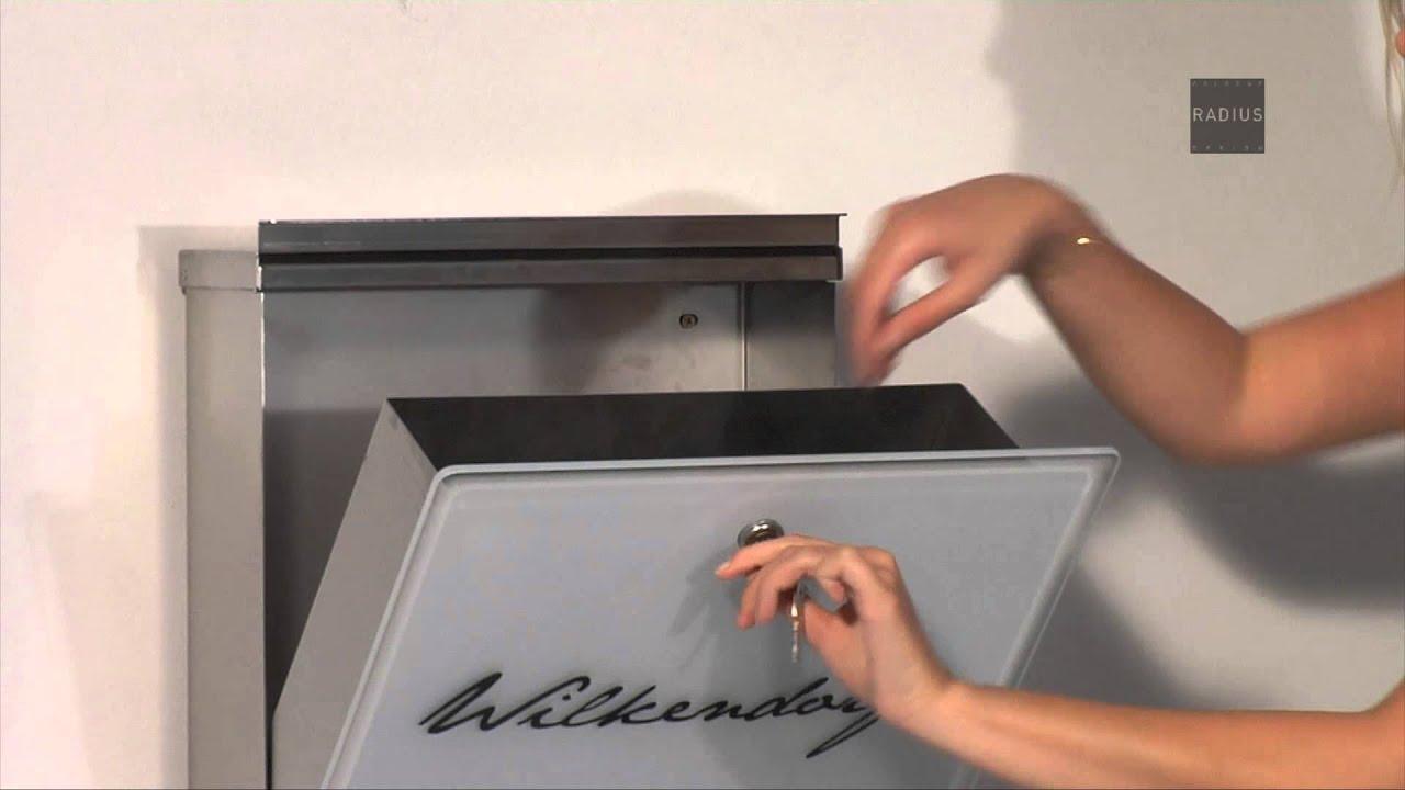 briefkasten letterman 3 radius design youtube. Black Bedroom Furniture Sets. Home Design Ideas
