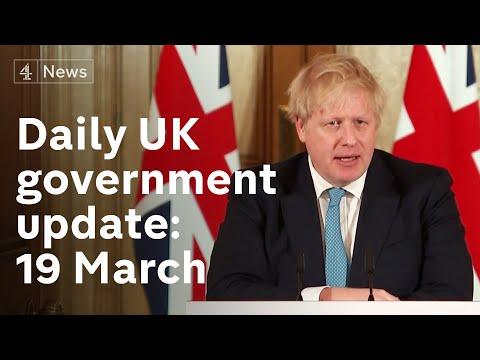Twelve weeks to 'turn the tide' on coronavirus: UK government virus update, 19 March