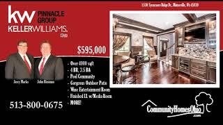 Luxury Home for Sale w/Custom Stone Patio  1530 Sycamore Ridge Dr, Maineville OH 45039