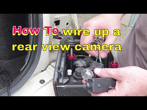 How to locate and wire your reverse lights to your rear view camera