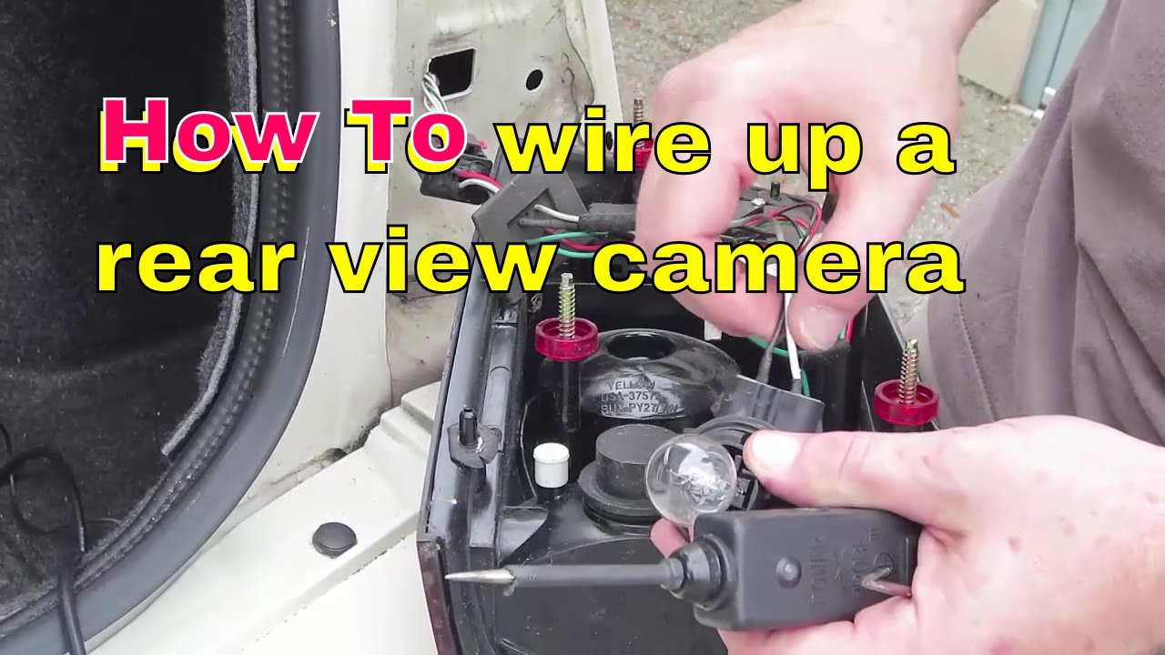 How to locate and wire your reverse lights to your rear view camera  YouTube