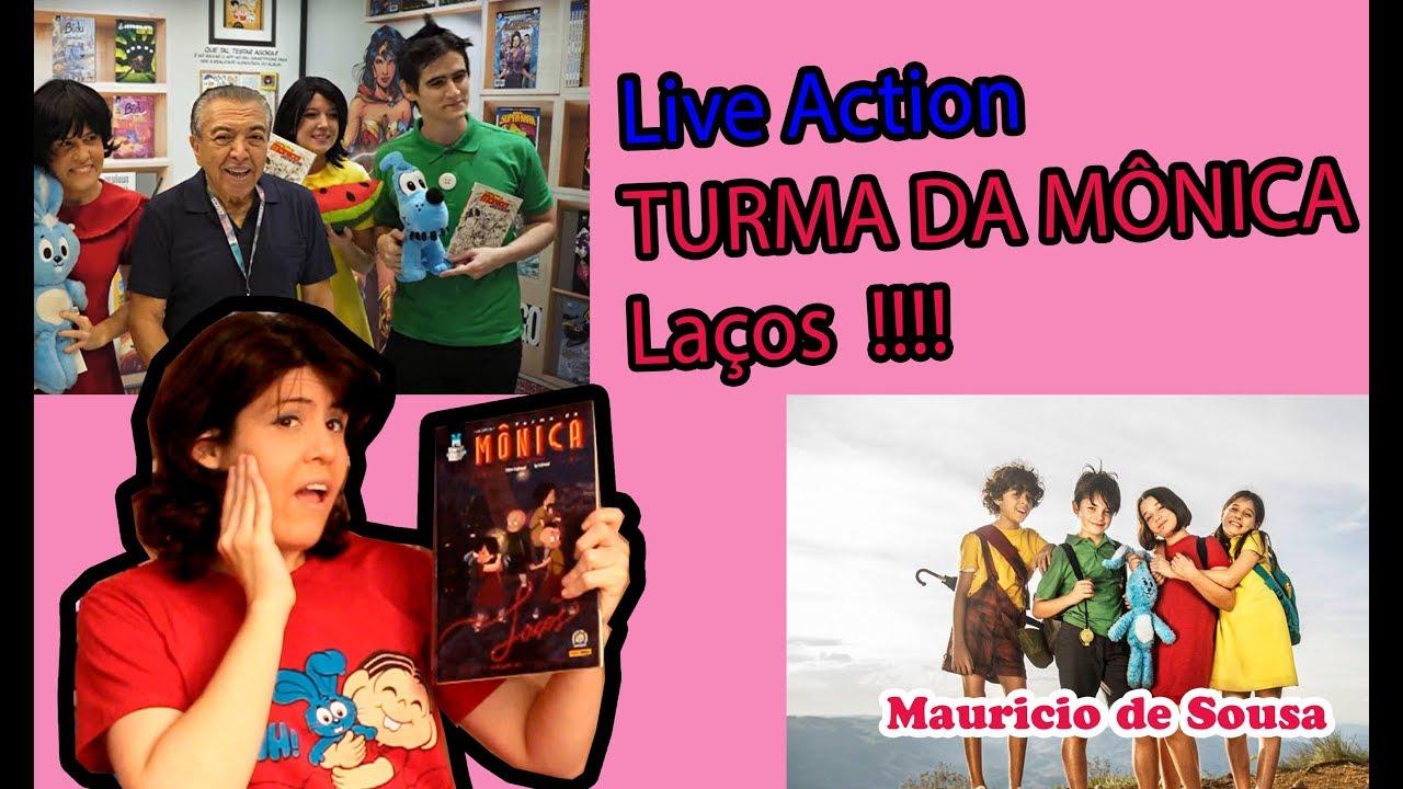 Resenha Graphic MSP TURMA DA MONICA LAÇOS  Live action e QUADRINHO!!