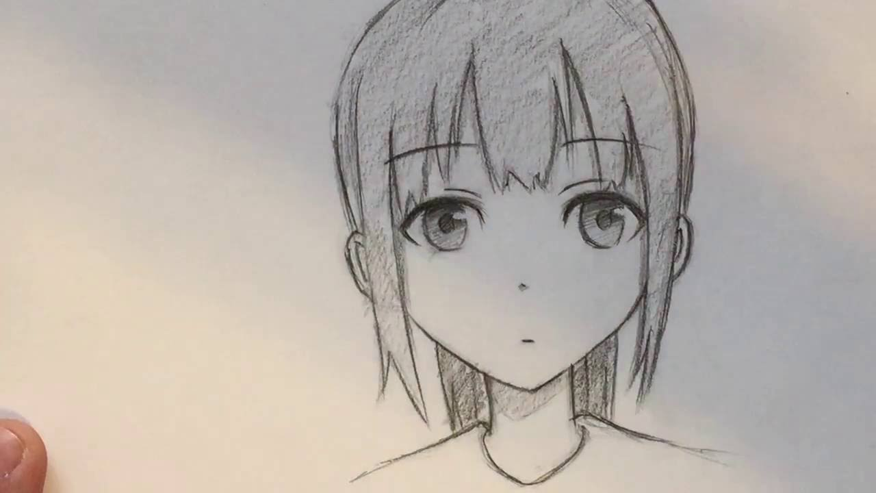 Anime Girl Drawn