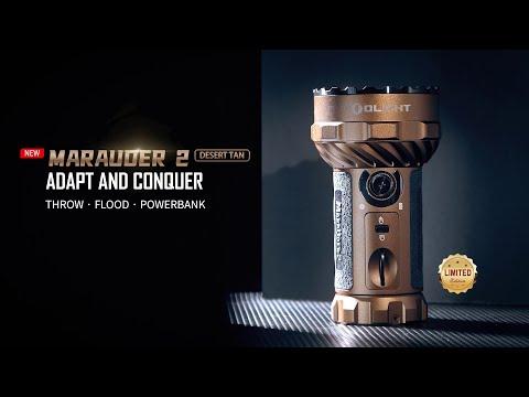 Senter Olight Marauder 2 Desert Tan Flashlight 14000 Lumens 800 Meter! Paling Terang!