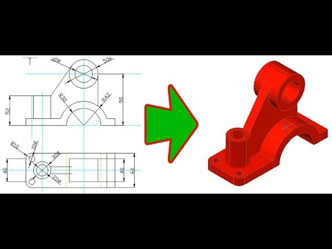 AutoCAD 2007 - Convert 2D to 3D _ [2/2]