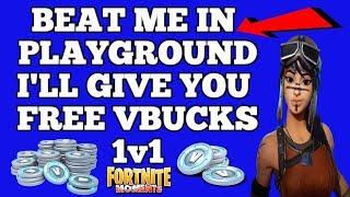 Se você me bater no playground Ill dar-lhe livre VBUCKS/batalha Fortnite
