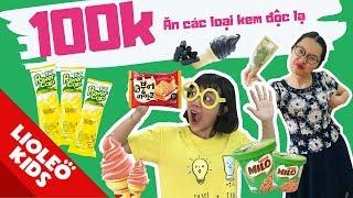 Thử thách 100k mua tất cả các loại kem - Tấm Cám chuyện Lio kể - Bé học tiếng Anh cùng Lioleo Kids