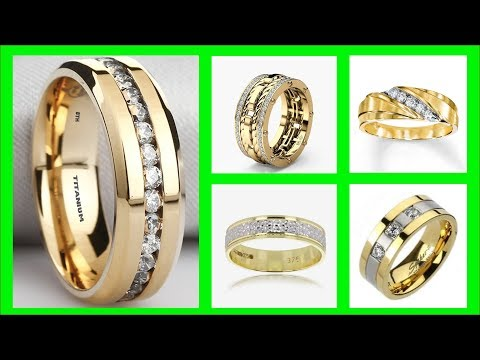 TOP 45 Mens Gold Wedding Rings Ideas | Gold Ring Design With Diamonds |https://pixlypro.com/e9nRpZH