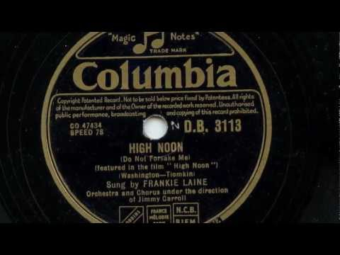 Frankie Laine 'High Noon' Original 1952 78 rpm