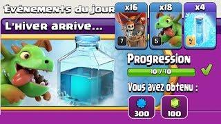Clash of Clans - L'hiver arrive - Compo BébéBal (Bébé dragon - Ballons)