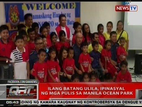 QRT: Ilang batang ulila, ipinasyal ng mga pulis sa Manila Ocean Park