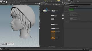 full process of creating Dynamic and manual controllers for polygonal Hair,  using Maya and Houdini