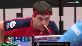 Timo Boll vs Hugo Calderano (Champions League 2018)