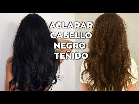 CÓMO ACLARAR CABELLO NEGRO TEÑIDO EN CASA⎢Aclarar cabello negro sin maltratarlo⎢DAY ARVIZU♡