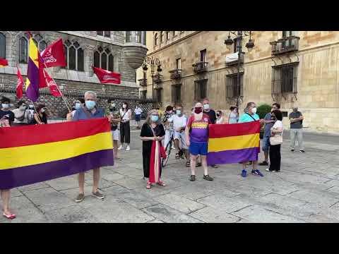 Manifestación contra la Monarquía