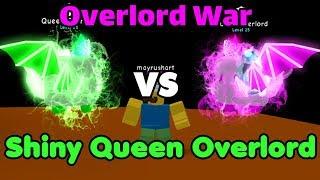Got Shiny Queen Overlord! OP Stats! Overlord Battle! OP Stats - Bubble Gum Simulator