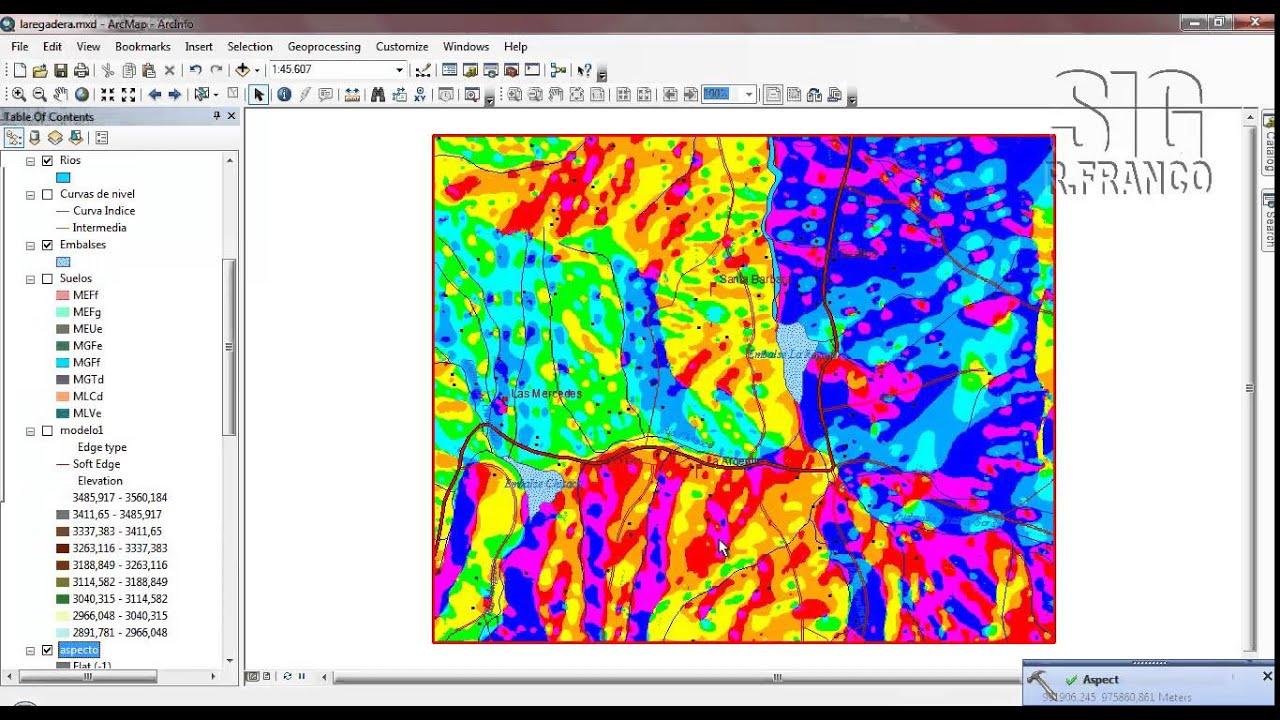 Tutorial ARCGIS Cap.12-07 Surface Aspect Orientación de ...