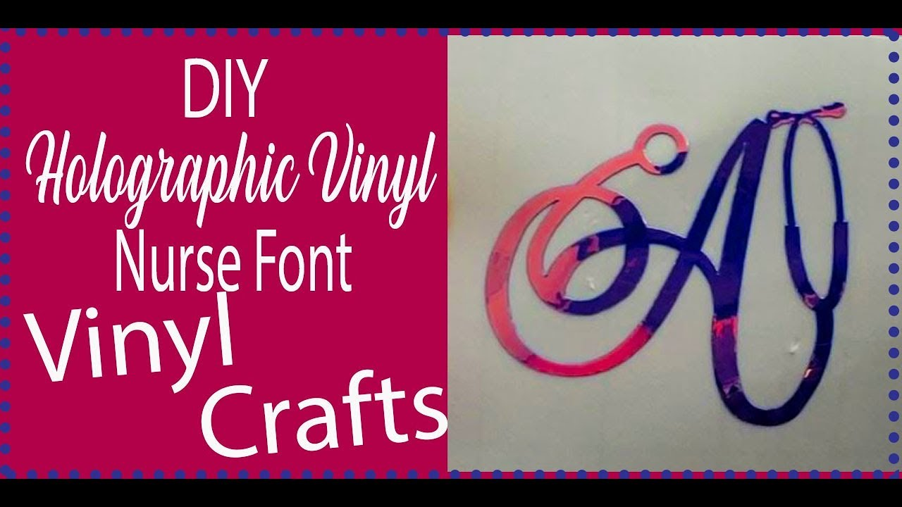 Easy Beginner Cricut Projects Using Nurse Font for Cricut Vinyl Monogram