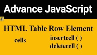 HTML Table Row Element in JavaScript (Hindi)