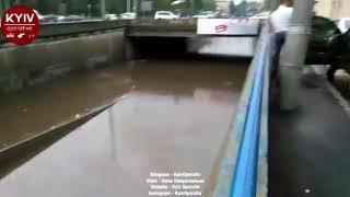 Киев залило водой: автомобили тонут, 25.07.2018