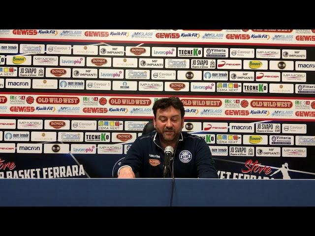 Dichiarazioni del  vice Coach Marco Carretto nel pre partita con Ravenna