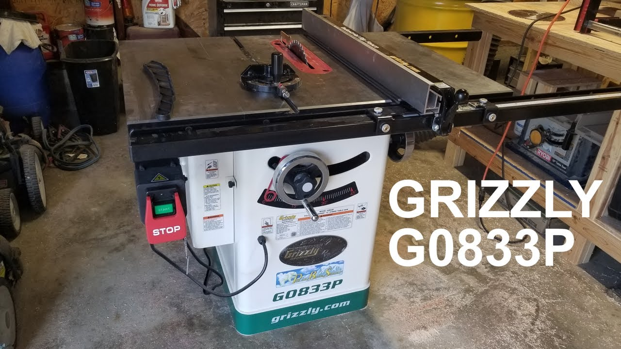 Grizzly G0833p Table Saw Timelapse Unboxing Assembly With Brief Overview Youtube