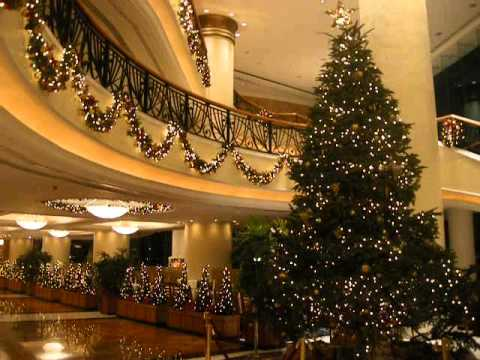 christmas decoration at luxury hotel harbour grand kowloon hong kong