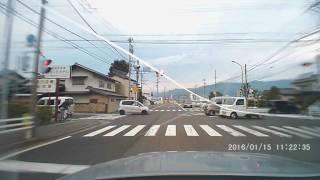 【交通違反】赤信号で突っ込んできたジムニー【逮捕!】 画面の日付けは...