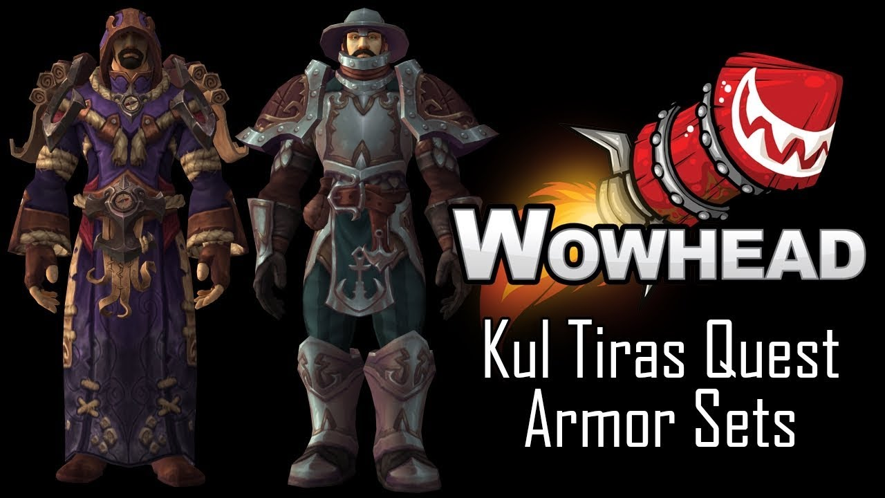 Kul Tiras Quest Armor Sets - YouTube