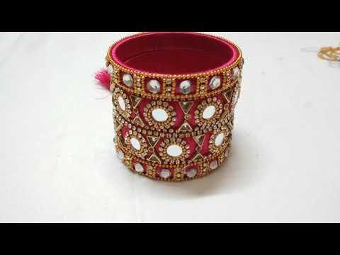 Make an awesome new bangle set # New Look # Silk Thread Bangles Set # Smart Art And Crafts # DIY