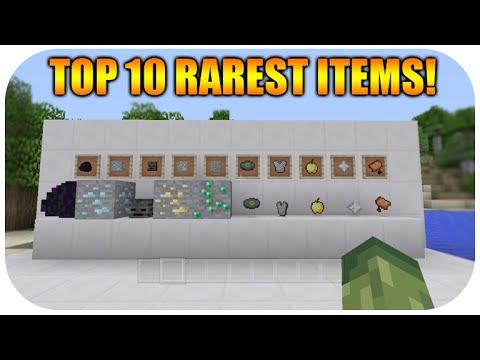 ★Minecraft Xbox & Playstation: Top 10 Rarest Items To Find ...
