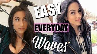 QUICK & EASY WAVY HAIR TUTORIAL | TOOLS + PRODUCTS + HACKS | XoJuliana