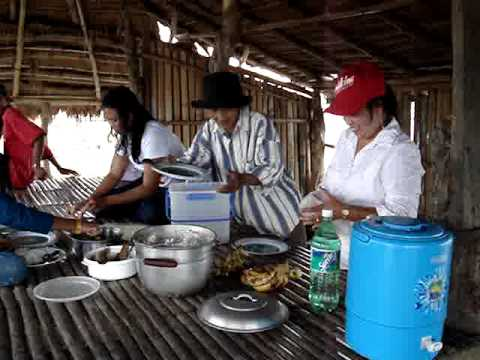 Lunch at our farm land in the Philippines