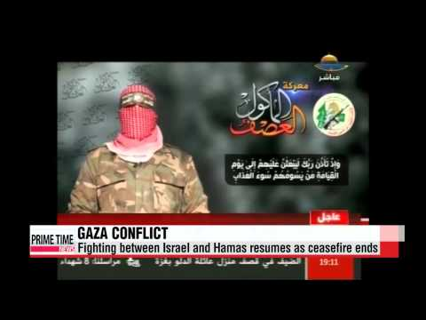 Gaza conflict resumes as peace talks break down   이스라엘 하마스 교전 재개