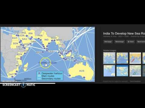 Flat earth look at Ship routes