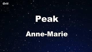 Peak Anne Marie Karaoke No Guide Melody Instrumental