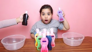 تحدي لا تختار زيت السلايم الخاطئ !!! !!! Don't Choose the Wrong baby oil SLIME CHALLENGE