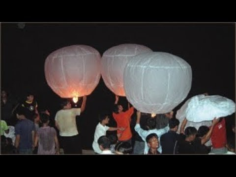 How to make Sky Lantern (fanush) || Homemade sky Lantern || Paper Hot Air Baloon