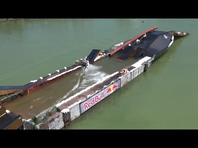 Wakeboarding on a Cargo Ship - Red Bull Wake of Steel 2012 Austria