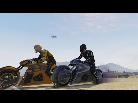 GTA V ONLINE: NUEVO MODO DE JUEGO Y SUPER MOTO TRON!