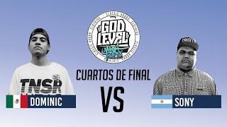 SONY VS DOMINIC / CUARTOS / GOD LEVEL ARGENTINA